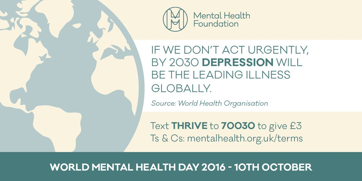 Today is #WorldMentalHealthDay. Please help us continue our fight for better mental health for all #WMHD16: https://t.co/nMId7VzcBu