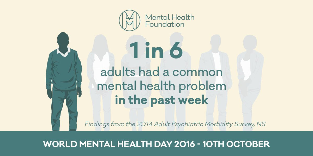 Next time you're in a busy place, look around you: many people will have experienced a recent mental health problem: https://t.co/LbLsNDZGW2
