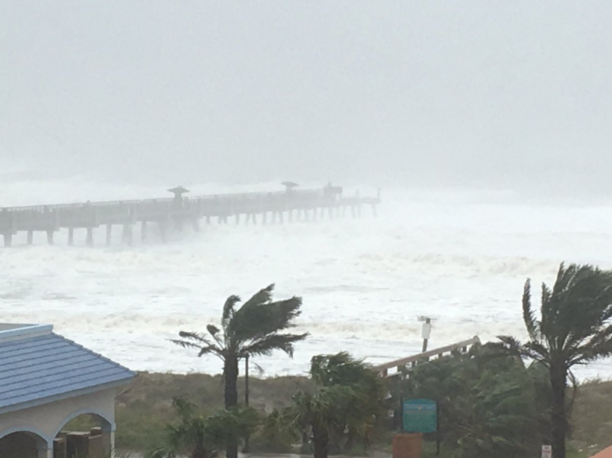 Just In Large Part Of The Jacksonville Beach Pier Has