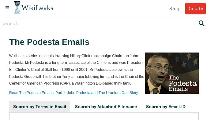 RELEASE: The Podesta Emails #HillaryClinton #Podesta #imWithHer https://t.co/pjX9tmfINt