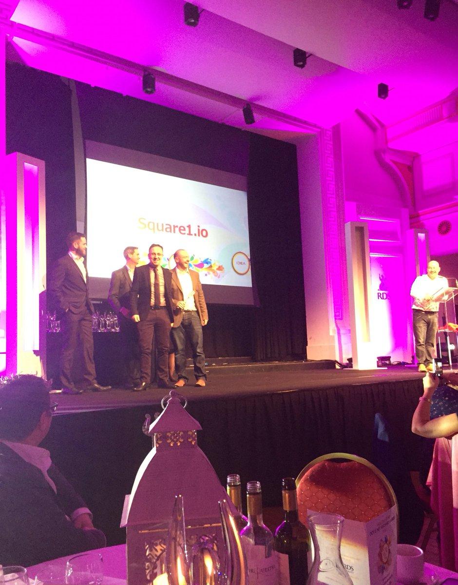 The @IDEA_Ltd Best Web Development Agency award goes to....@square1_io at #DotieNetVis ! Great work ! https://t.co/lf17SY6rOV