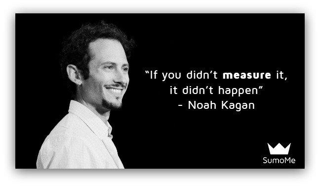 """If you didn't measure it, it didn't happen"" - Noah Kagan. https://t.co/VIg35395Mj https://t.co/7TBBh0BHaL"