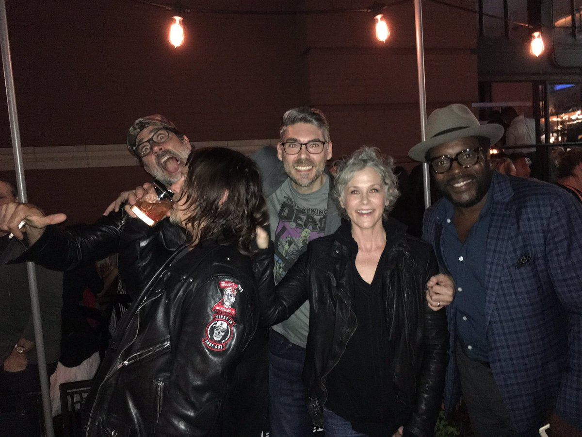 I love @TheWalkingDead and @Skybound!  Ran into these fine folks at a mixer! https://t.co/5rzANiMyHX