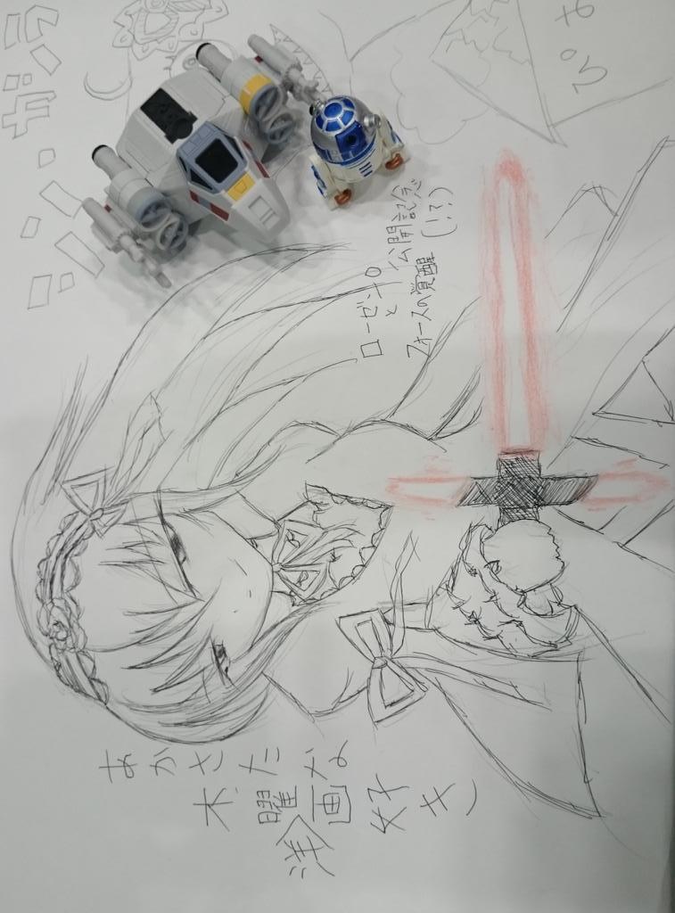 @2674Luke: まさかの #STARWARS ネタ wwwwwww #ローゼンメイデン #まきまき #X_wing