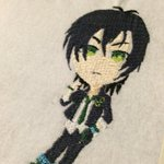 タイガきゅんワッペン試作の刺繍出来た。  #キンプリ手芸部 #キンプリ