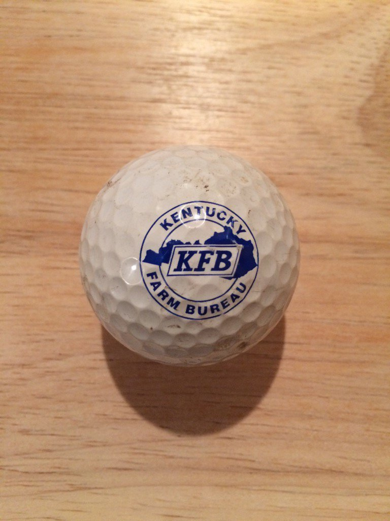 ⛳️ Logo Of The Day ⛳️ A Kentucky Farm Bureau #logo #golf ball added to the collection! #KFB https://t.co/L9SKF54LZK