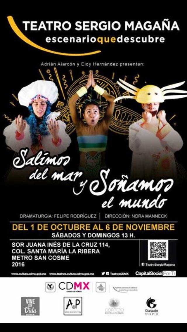 #Teatroparaniños este fin de semana!! Sábado y Domingo a las 13 horas. Les va a encantar @salimosdelmar #cdmx https://t.co/tAd3dwEDaG