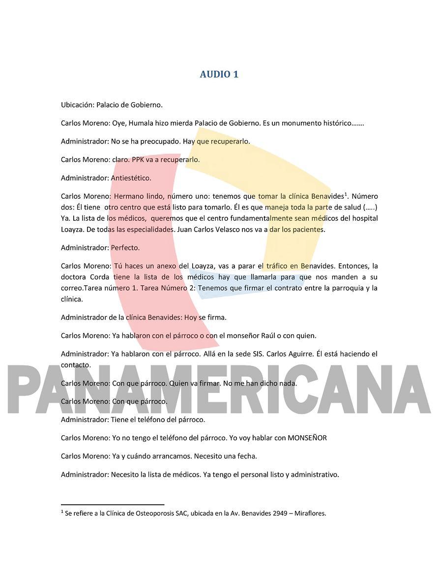 #EXCLUSIVO: Transcripción literal de los audios del caso Carlos Moreno que llegaron a la PCM. (1/3) https://t.co/4f0UaboGEU