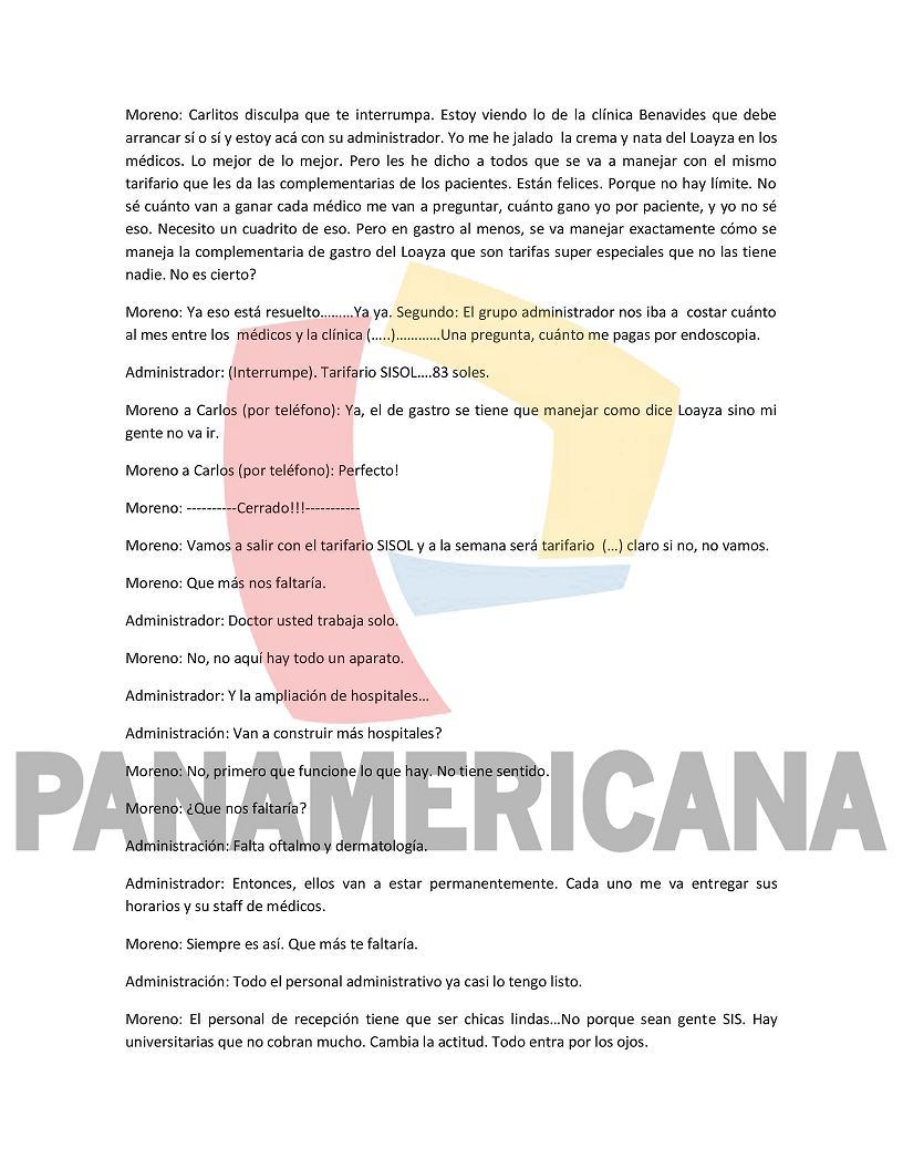 #EXCLUSIVO: Transcripción literal de los audios del caso Carlos Moreno que llegaron a la PCM. (2/3) https://t.co/JA707f8roU