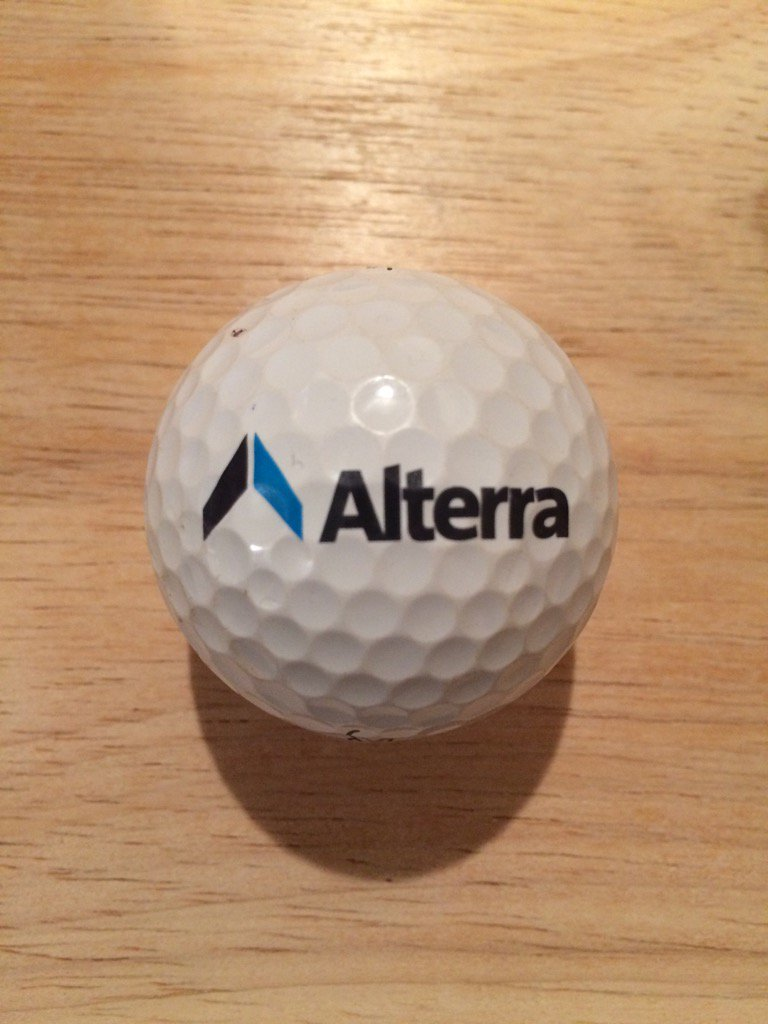 ⛳️ Donated Ball Of The Day ⛳️ Alterra Capital Holdings Ltd #logo #golf ball. Courtesy of @u4golf1 #Alterra https://t.co/QMg2hqEMMe