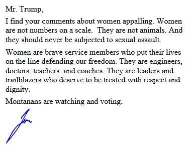 Dear @realDonaldTrump...  #mtpol https://t.co/2JHlZwTuR8
