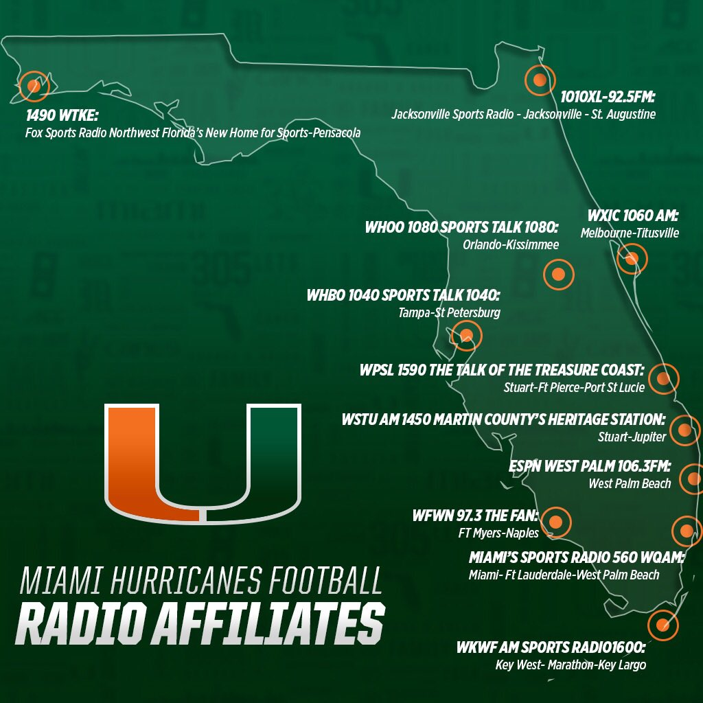 Canes fans-- here's where you can listen to tonight's game statewide https://t.co/kjzIe6rTag