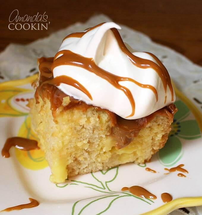 Vanilla Dream Crock Pot Poke Cake  from @amandaformaro