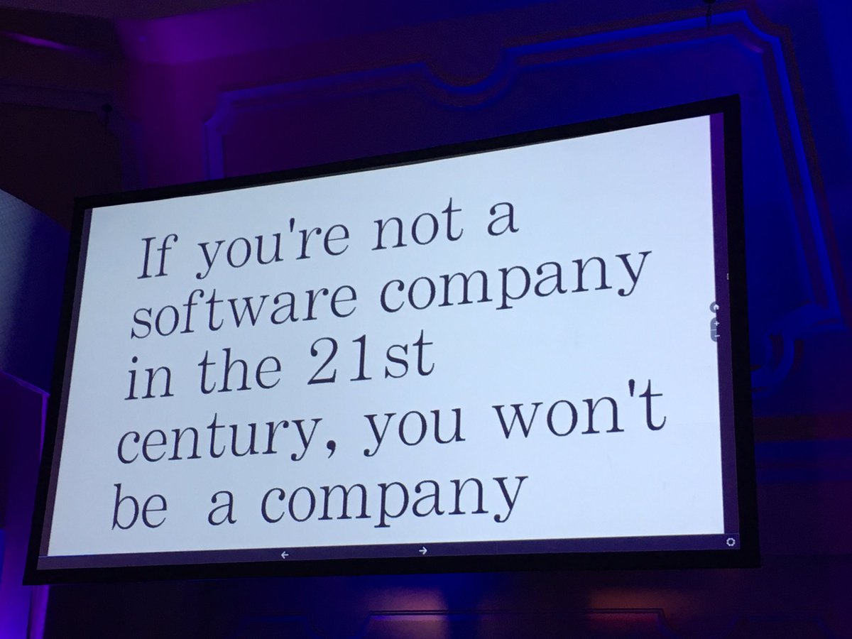 If you're not a software company in the 21st century, you won't be a company -@bradtem #xmed https://t.co/2eQsQgG5yL
