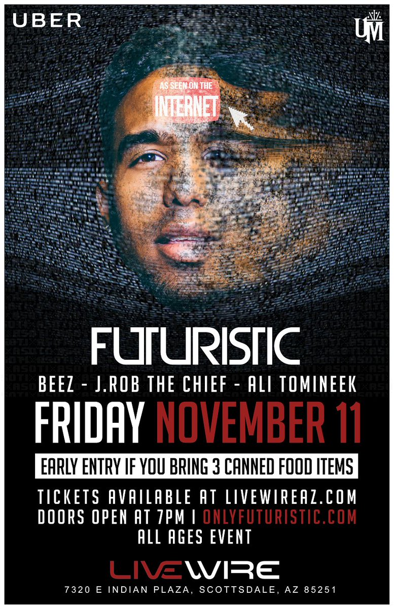 Make sure to get tix to see THE GREATEST @onlyfuturistic at @livewire 11/11! DO IT!! https://t.co/tqXFzWBLx7 https://t.co/ZNPptey7JJ