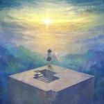 日の出。最近''君の名は''を見て、昔''雲の向こう・約束の場所''を見る感動を思い出した。