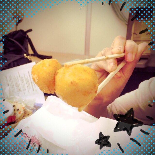 あ、あけちゃんがつかんだ芋がとぅ、とぅとぅとぅ…トゥーボールやー!!!!(  ☉·̫☉)#tesabu