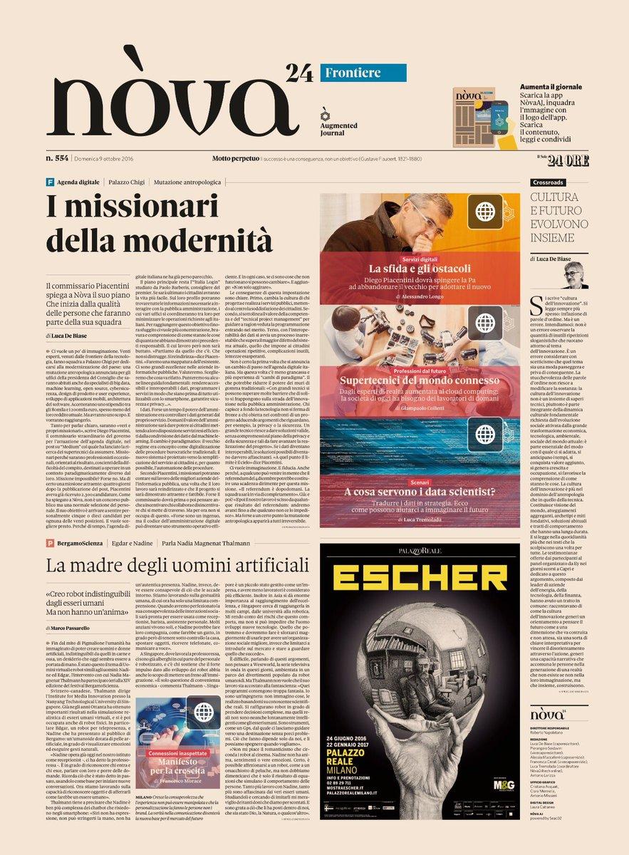 Diego Piacentini spiega la missione di portare l'Italia nella contemporaneità. Su #Nòva col @sole24ore - @Nova24Tec https://t.co/pNoiFBo7UX