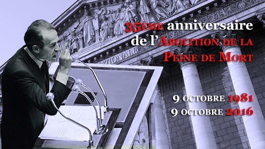9 octobre 1981. Il y a 35 ans, la France promulguait la loi abolissant officiellement la peine de mort. #Badinter https://t.co/IhKX6IuheH