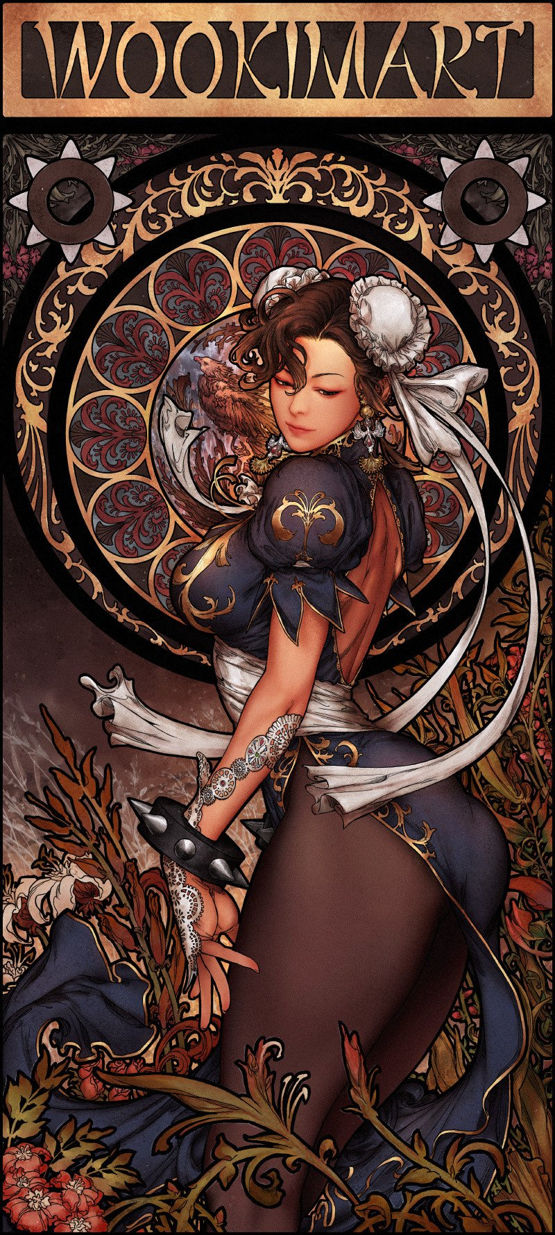 """Art Nouveau Chun-Li"" par Woo Kim #StreetFighter #Capcom https://t.co/fVWSOA6pRE"