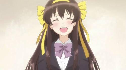最近ですが、長門有希ちゃんの消失のハルヒの笑顔がまた可愛かったです!
