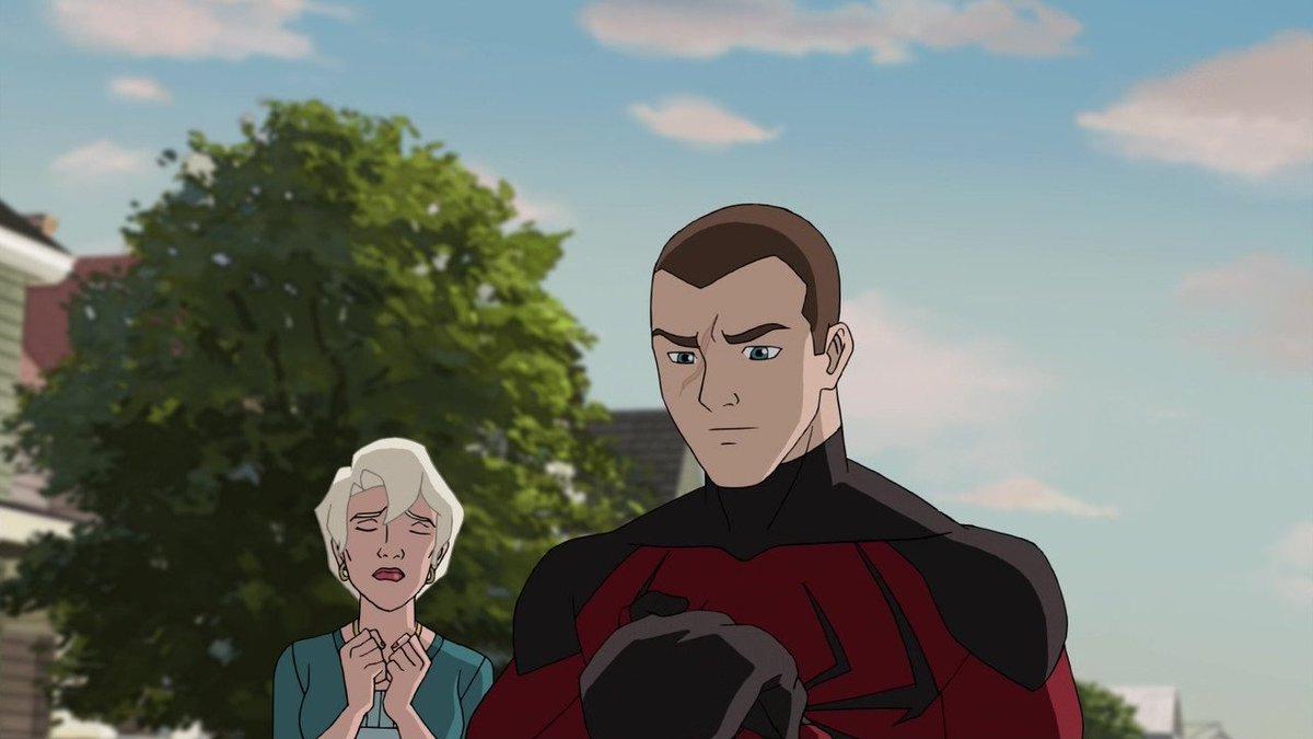 このとき何考えてたんだろ・・・スパイだけど自分の守りたいものだけは貫こうとしてたのかな・・・#スパイダーマン#アルティメ