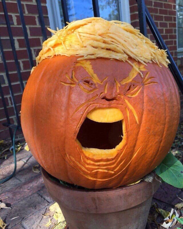 Something truly terrifying for Halloween: a Trumpkin. https://t.co/SHAfSLaknK