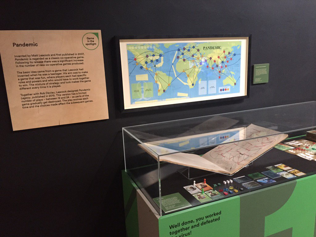 In other news, here's Pandemic at the V&A Museum of Childhood. In London? Check out their new Game Plan exhibit. https://t.co/qq0SVzGiAy
