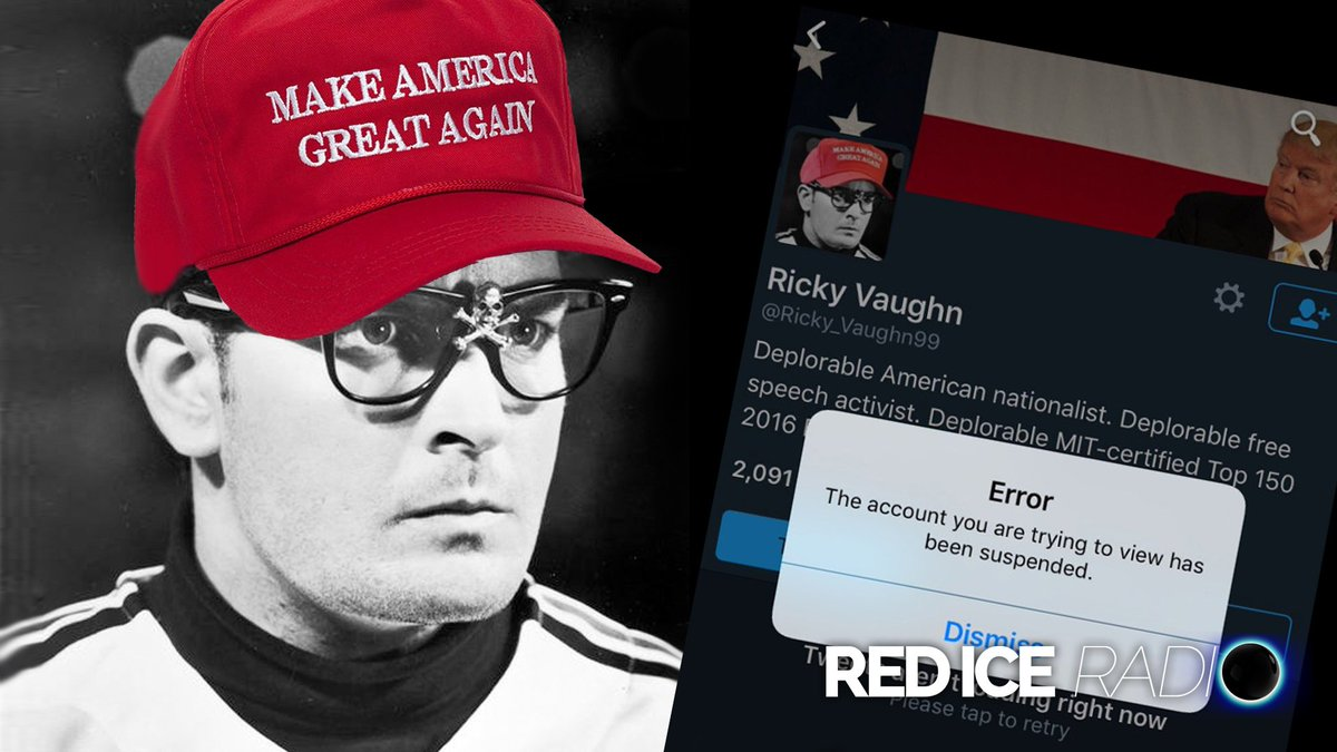 Red Ice Radio - Ricky Vaughn - Banned from Twitter  Listen here: https://t.co/kCNdeC40gn #FreeRicky https://t.co/A4asLVppt8