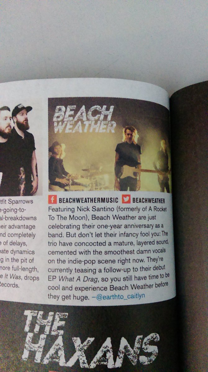 Happy to see @BeachWeather in @AltPress magazine for the 1st time in new issue of magazine! https://t.co/Aig0UeYUMR