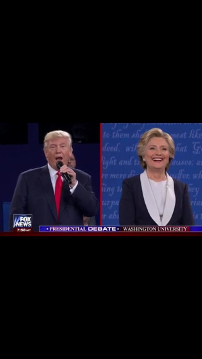 This is awful. So, I just paused TV & pretended Trump was serenading Hillary. Look how happy she is. #Debate https://t.co/IkNxkrtLMp