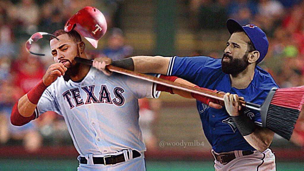 Le devolvió José Bautista el derechazo a Rougned Odor #MLBMemes https://t.co/f3luUouk83