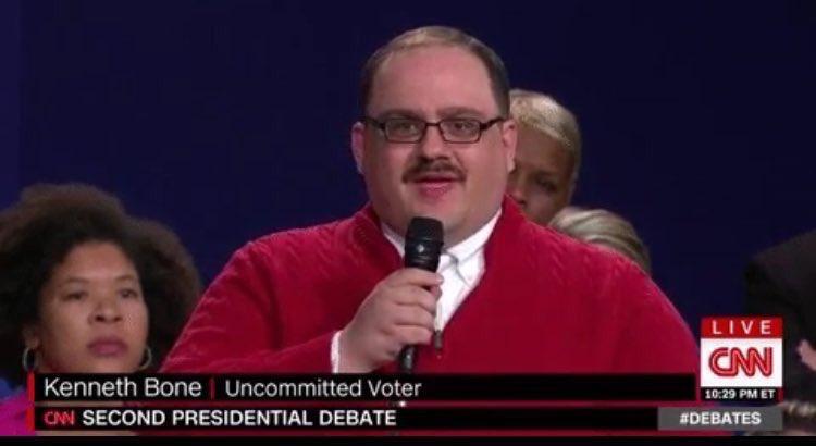 Ladies and gentlemen, my spirit animal, Ken Bone. #debate https://t.co/2QBdN8jukx
