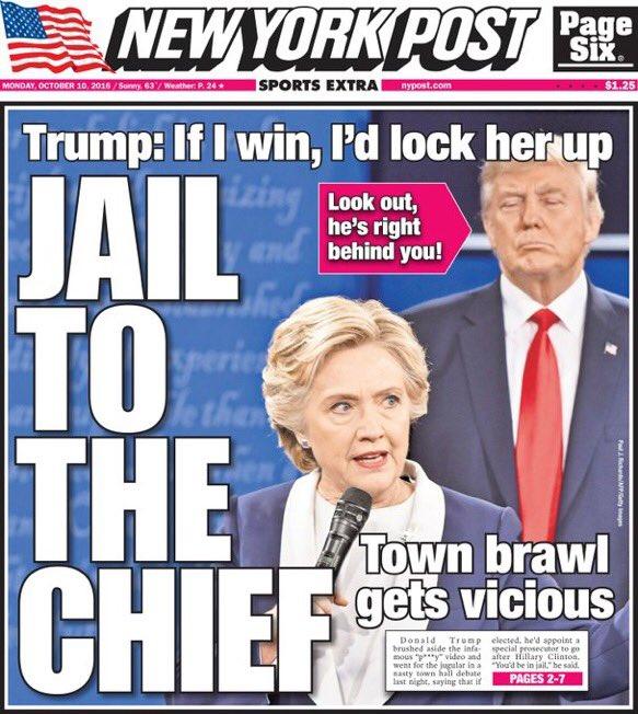 Tomorrow's NY Post:   JAIL TO THE CHIEF https://t.co/8SIC2S1rzQ