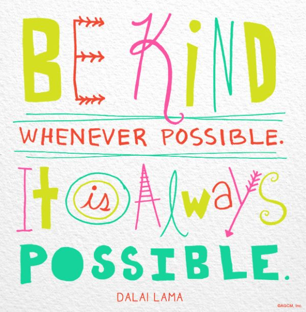 Whenever possible...be kind. https://t.co/7PVS6NP9VP https://t.co/kvXwwcXBmJ