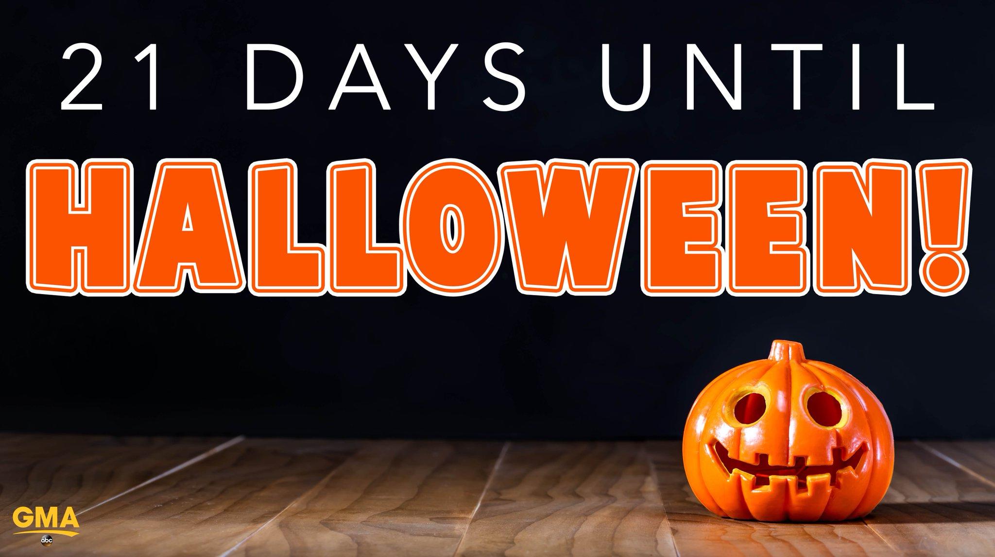 21 days until Halloween! �� https://t.co/oifKHdnXFx