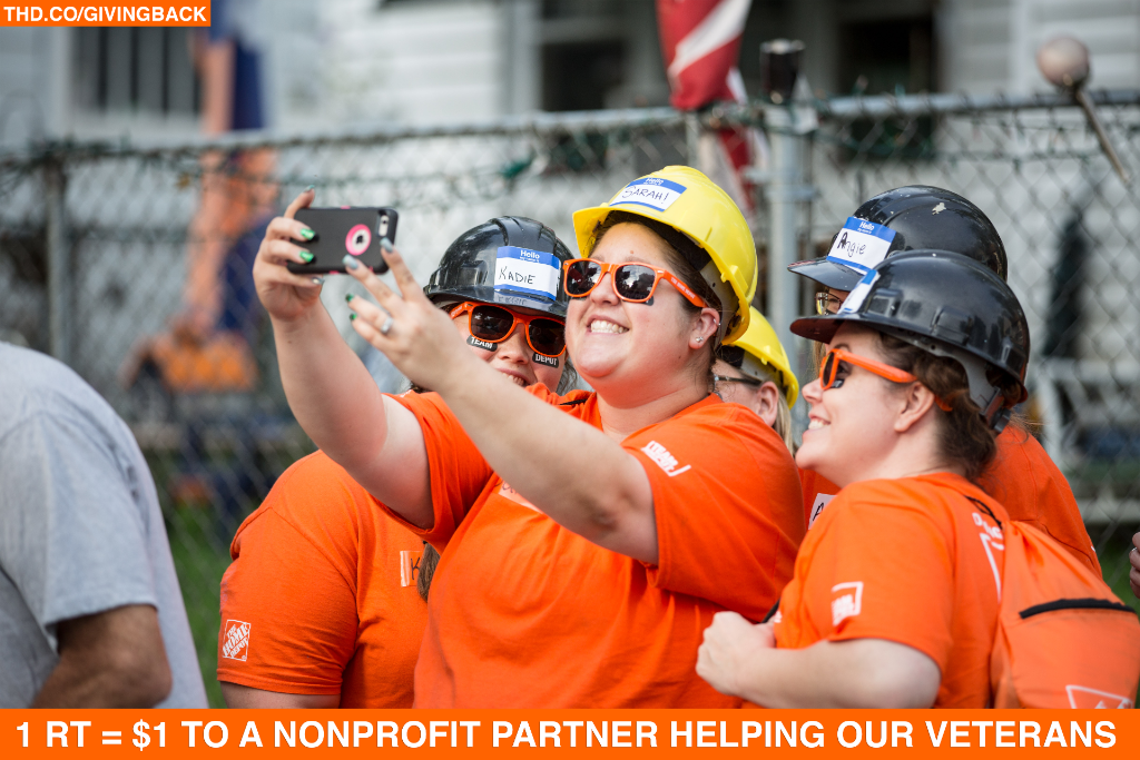 For every RT this tweet gets between now and 11/11, we'll donate $1 to nonprofits serving veterans! #ServiceSelfie https://t.co/CUm4KEdMzL
