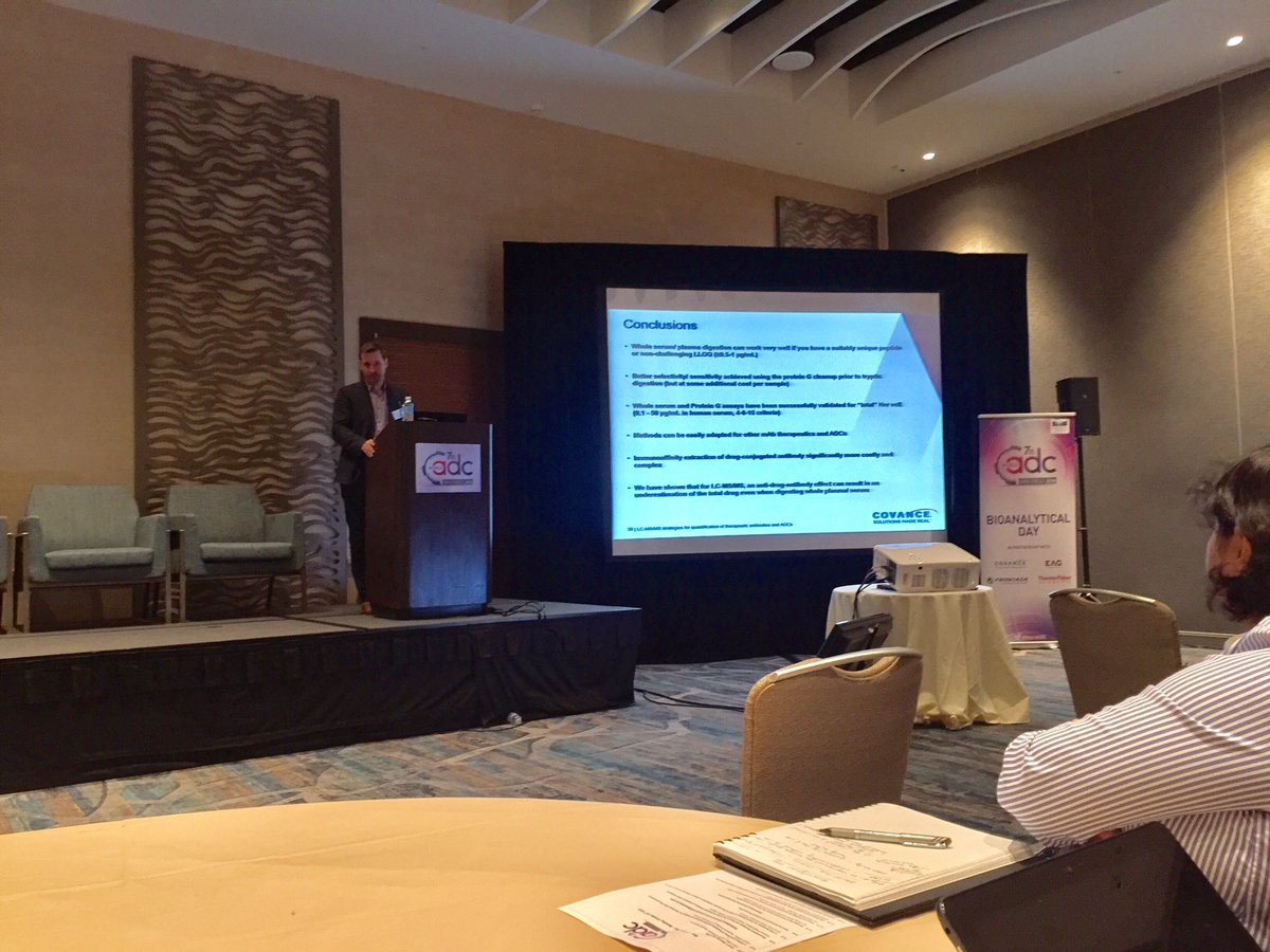 RT @AmarcelloRI: David Firth from @Covance presenting at @World_ADC #bioanalysis #adc https://t.co/KY2xuujw9k