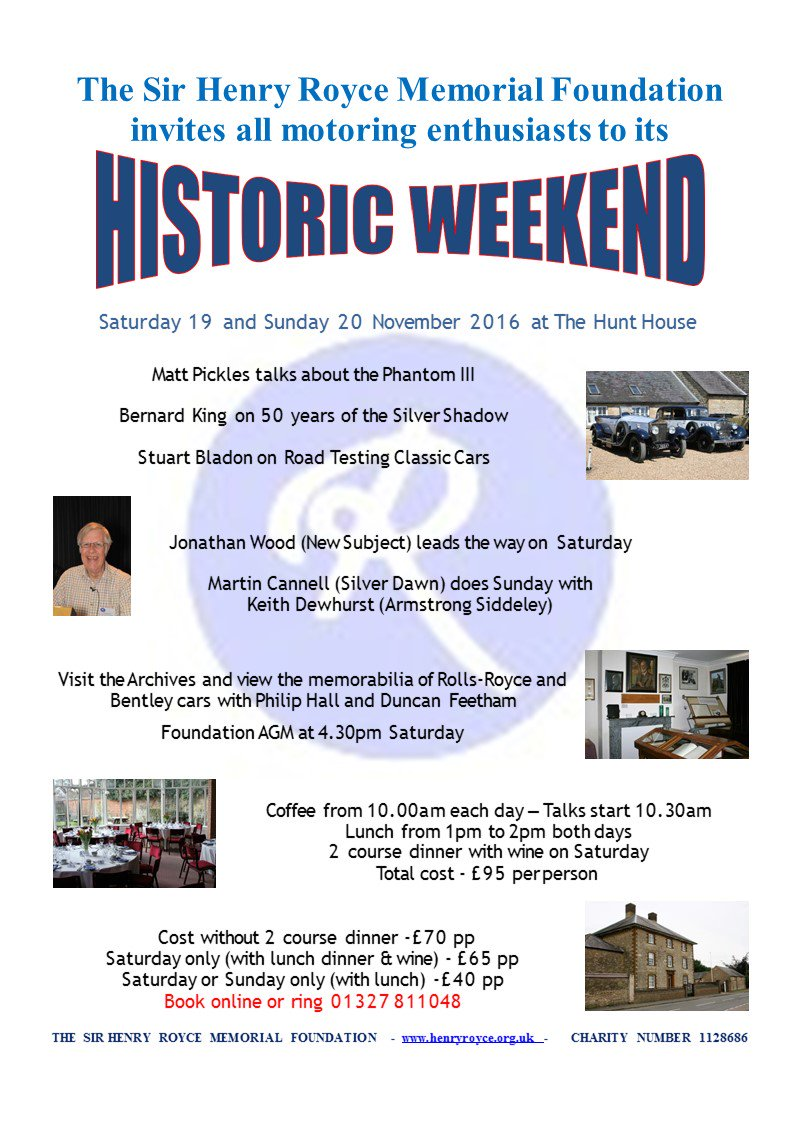 test Twitter Media - Historic Weekend @HenryRoyceFound November 19-20. Tickets now on sale: https://t.co/lqSgOEmIK3 https://t.co/DkDK8yQ78X