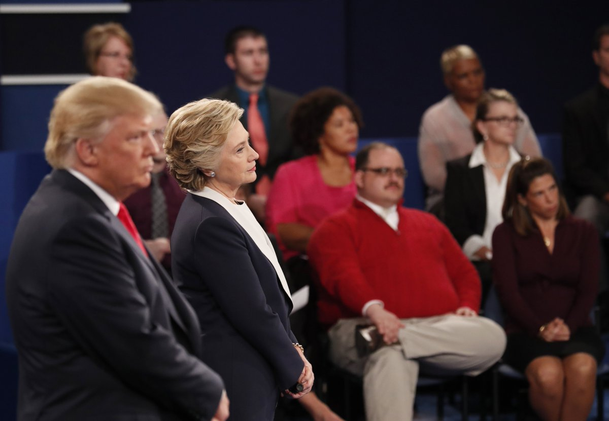 Man in #red sweater #kenbone who asked question about energy could ...