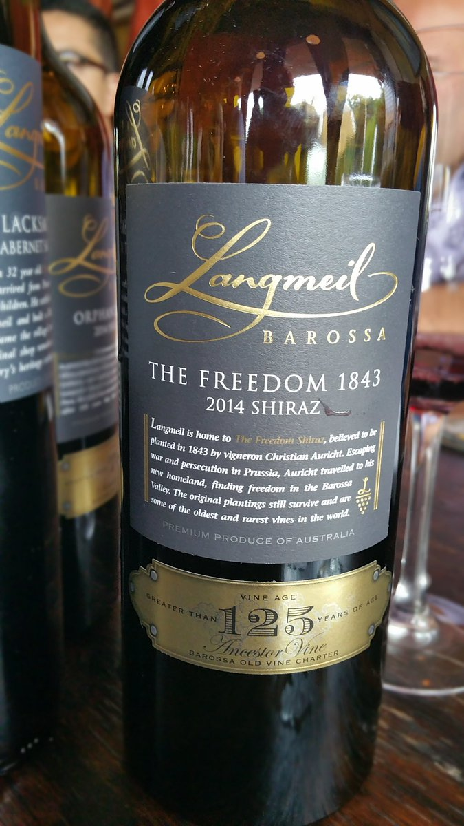 Enjoying the Oldest Pre-Phylloxera Shiraz Vines in the World @LangmeilWinery #shiraz #Australia #sommchat #wine https://t.co/EkWQOq1WJY