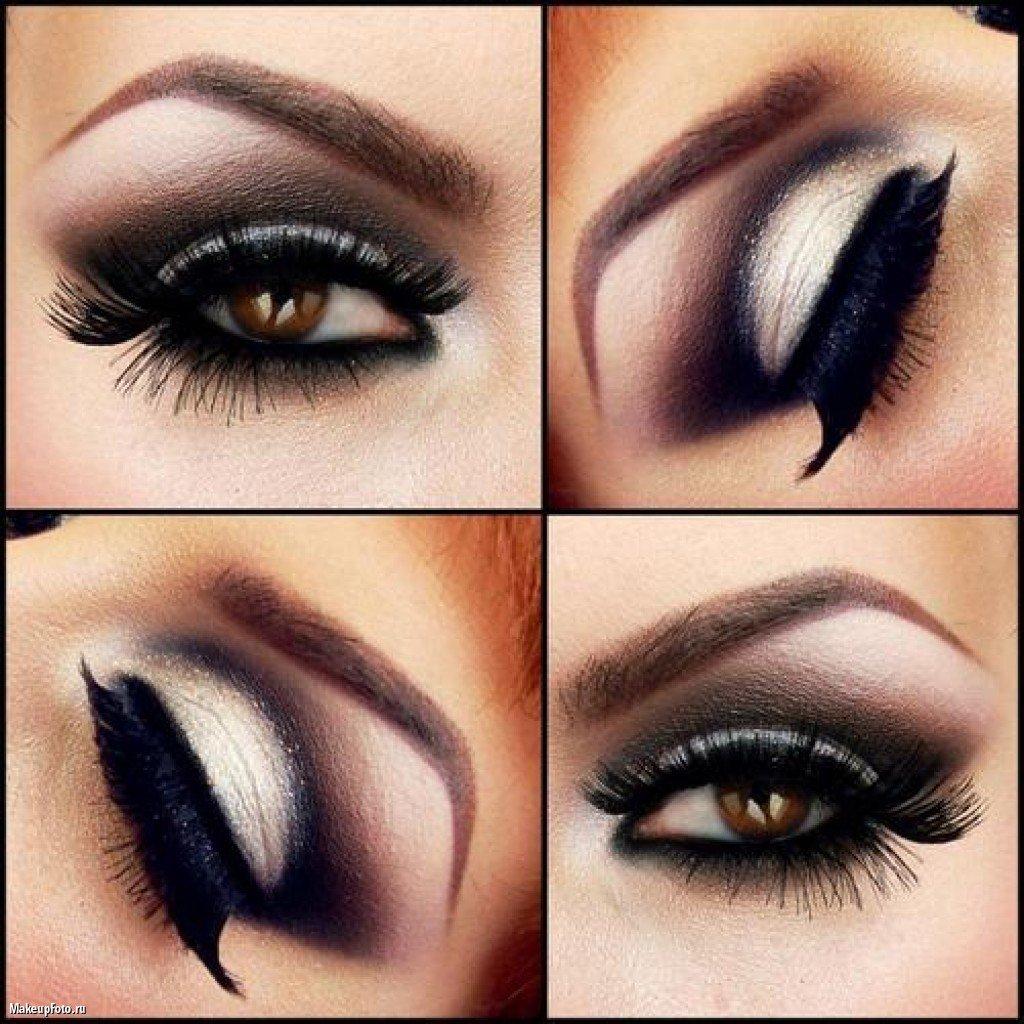 Как сделать темные глаза светлее макияж