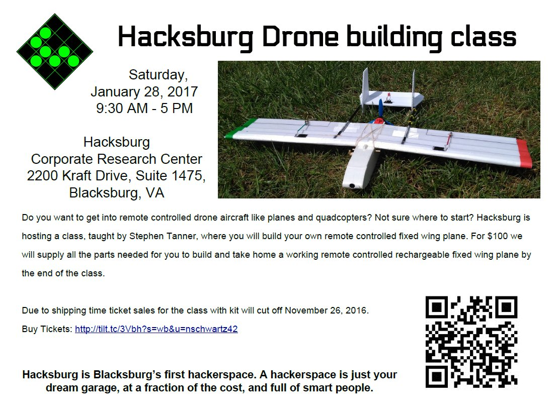 Would everyone share this advertisement for our drone building class around please? Thank you! https://t.co/2YE4Mc79QV