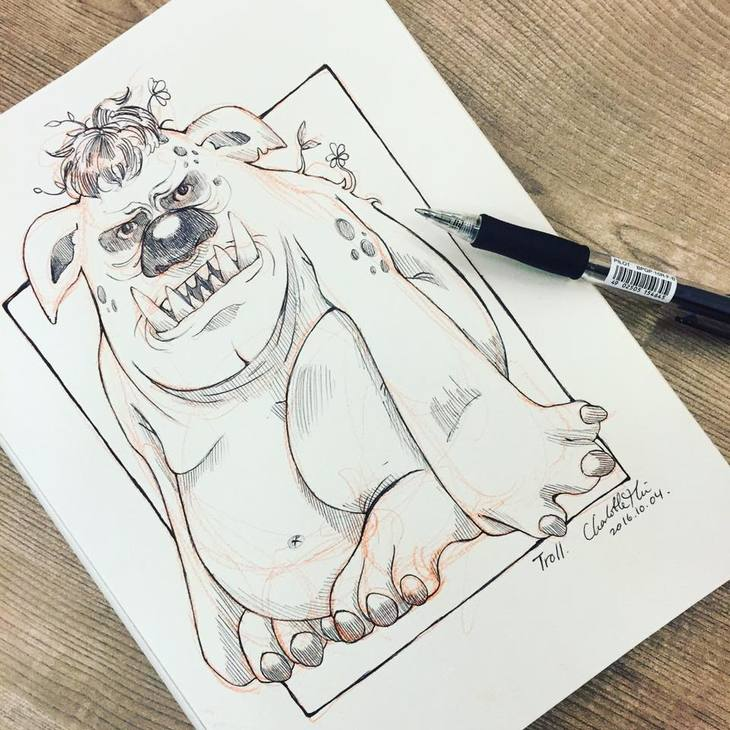RT @hitRECord: Let's see your #inktober illustrations — https://t.co/D2RA0ja9Eb https://t.co/ZZKyfs5Wiu