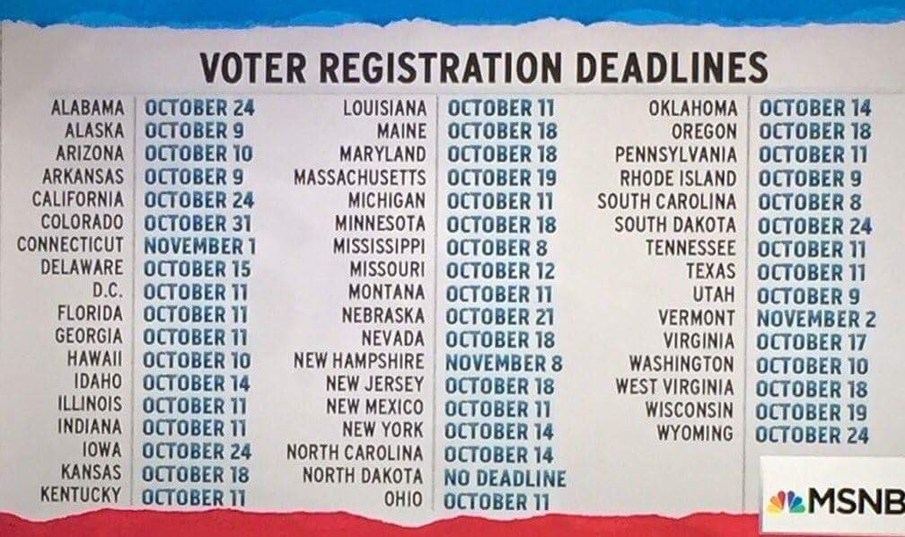Here are all of your voter registration deadlines. https://t.co/QKOfUxR9Lv https://t.co/PTex4e5PEV