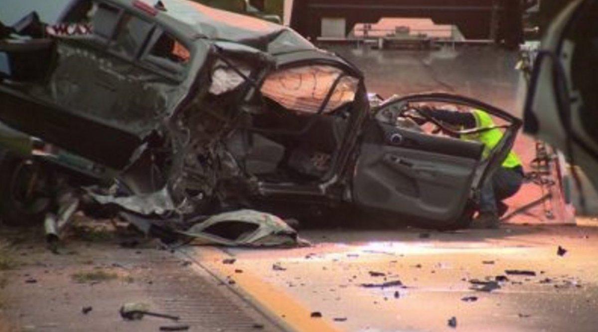 Wrong way driver kills   teens  steals police car  officials say  https