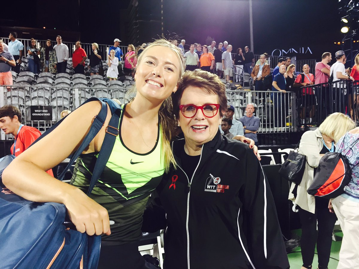 A fun night with @BillieJeanKing and #WTTSmashHits https://t.co/7dJEQwdnAb