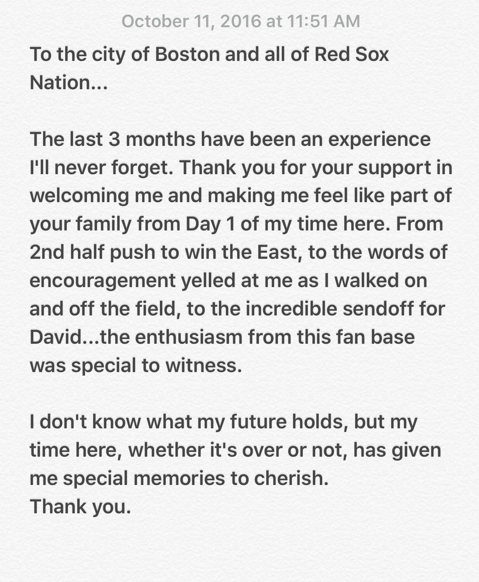 To the city of Boston and all of @RedSox Nation... https://t.co/4PnJa5GkGz