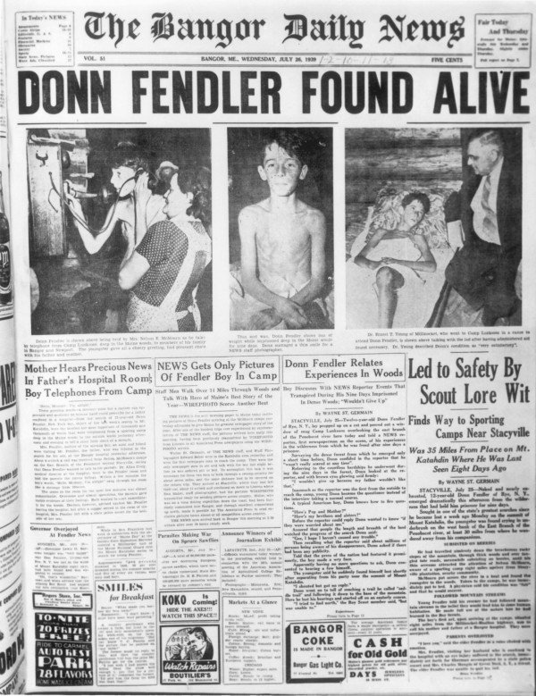 Donn Fendler, once a boy 'lost on a mountain in Maine,' dies at 90 https://t.co/laQRzVJbOA https://t.co/Tbb6haWO3i