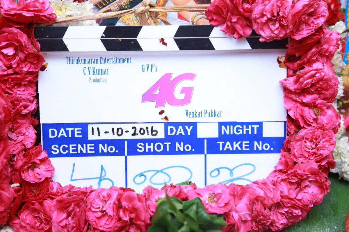 Happy to announce my next project with @icvkumar titled #4G .. directed by new comer Shankar sir Ast @avarunprasath and with @actorsathish